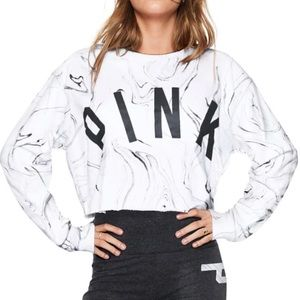 VS PINK Marble Cropped Sweater
